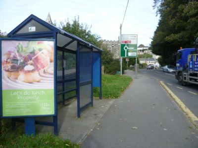 2110-4 Panel 3 Outside School Plymouth Road Tavistock