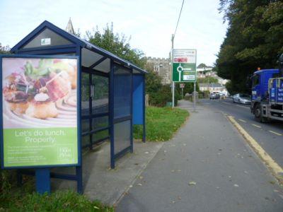 2110-4 Panel 3 Outside School Plymouth Road Tavistock
